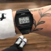 Relógio Casio Vintage Preto Fosco - B640WB-1ADF