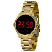 Relógio Lince Dourado Led - MDG4618L
