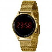 Relógio Lince Dourado Led - LDG4647L