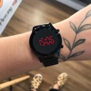 Relógio Lince Preto Led - LDN4647L
