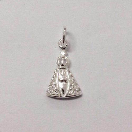 Pingente Nossa Senhora Pequena De Prata
