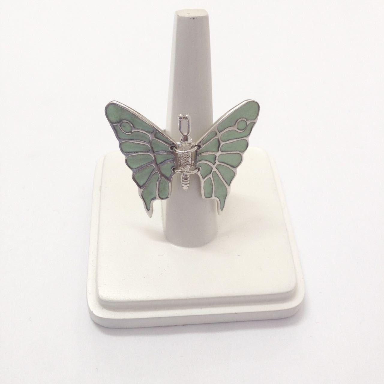 Anel Borboleta Articulada de Prata