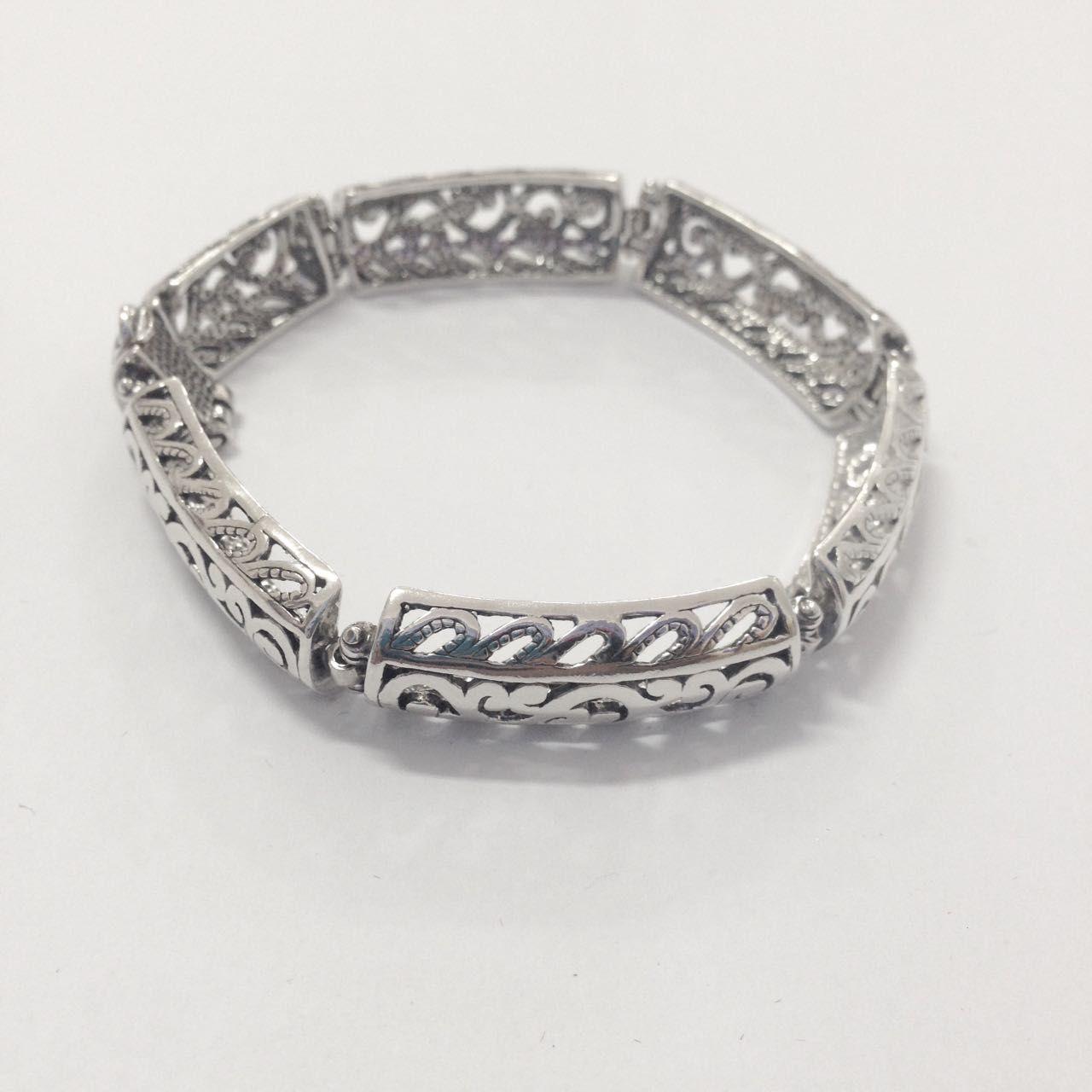 Bracelete Envelhecido de Prata