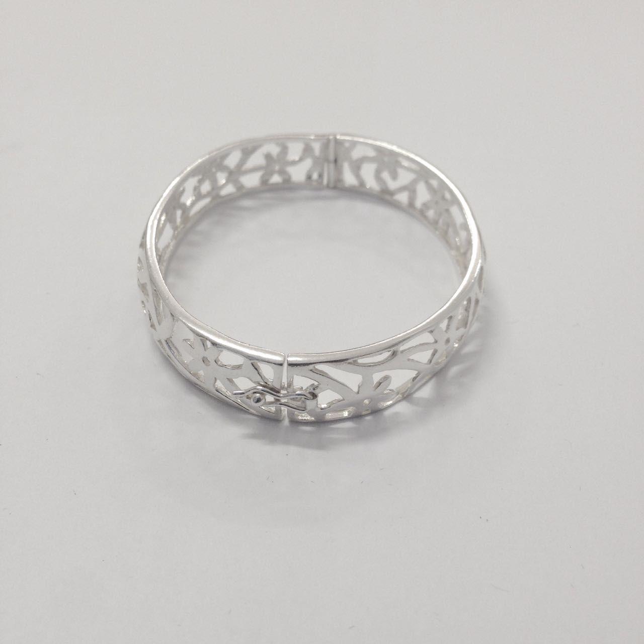 Bracelete Vazado de Prata