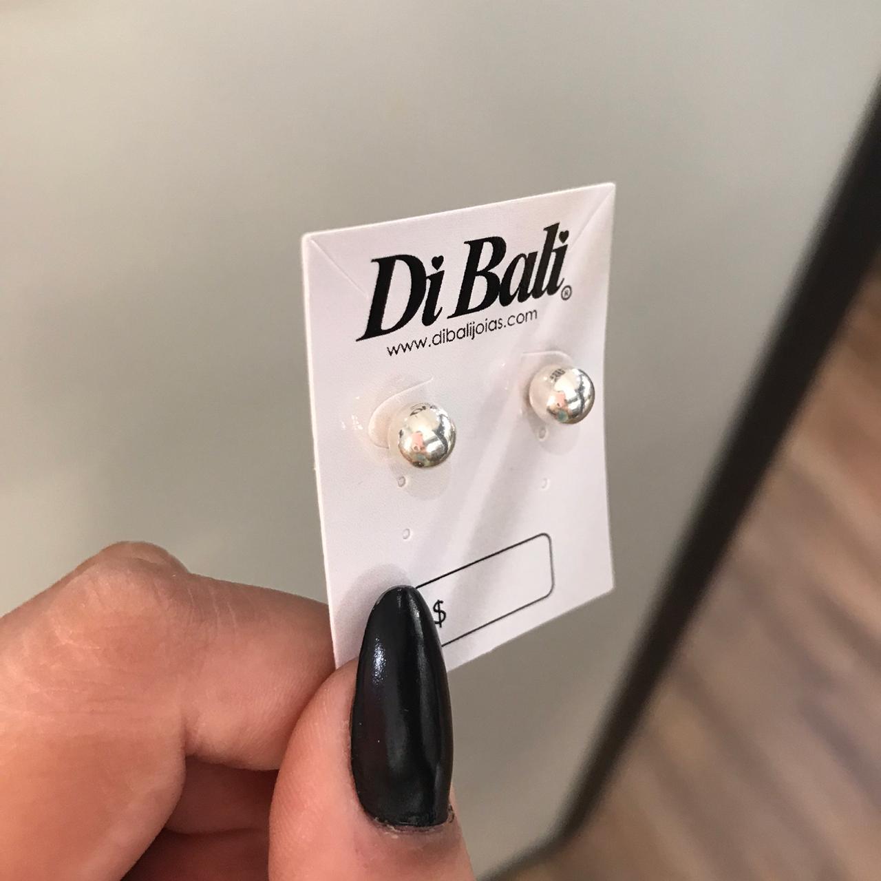 Brinco de Prata Bola 6mm
