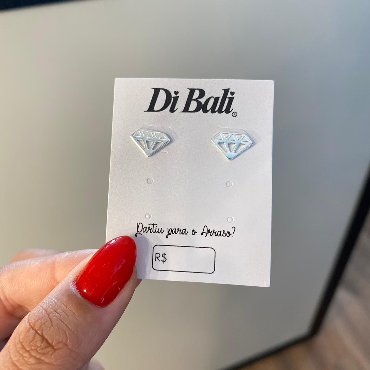 Brinco de Prata Diamante