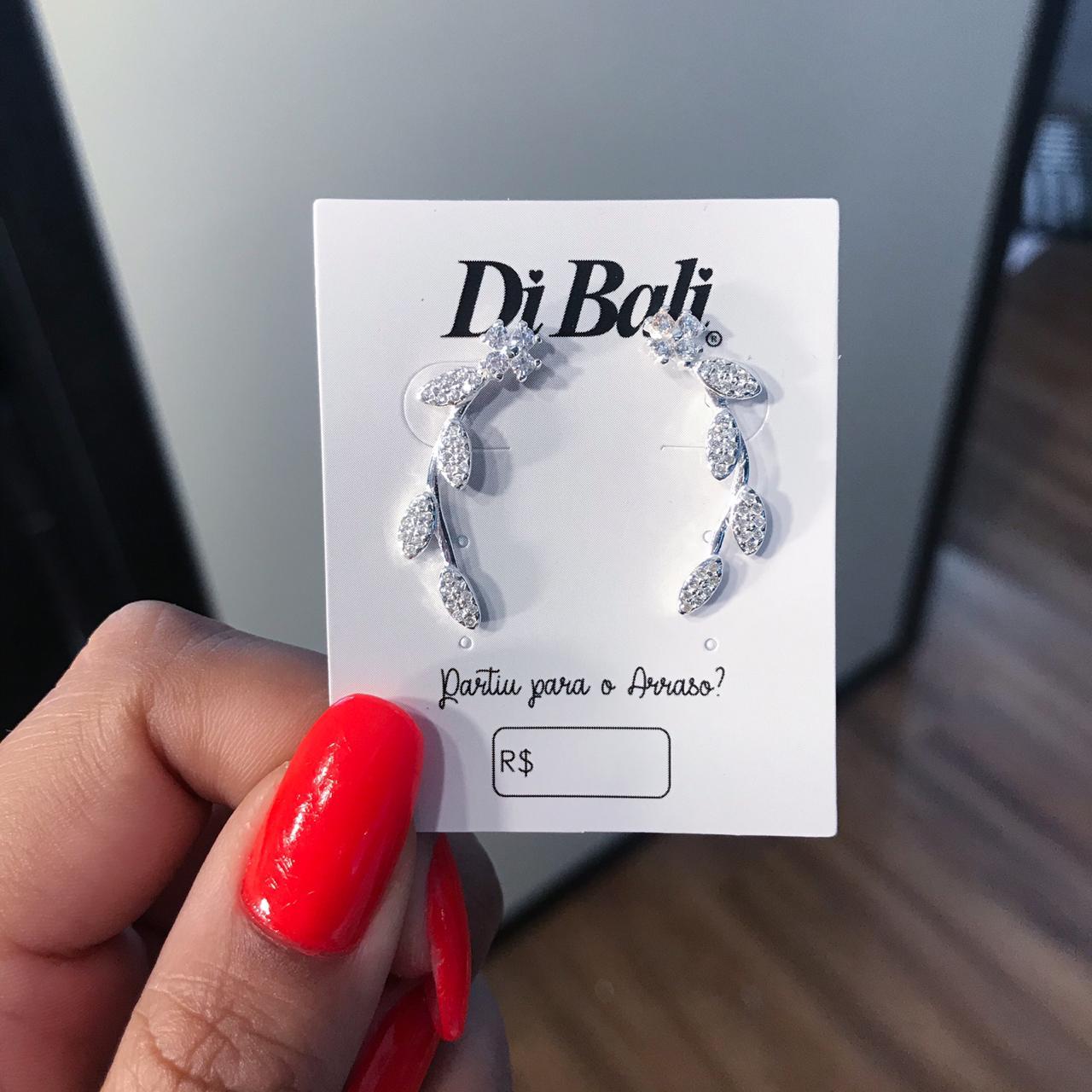 Brinco de Prata Ear Cuff Flor