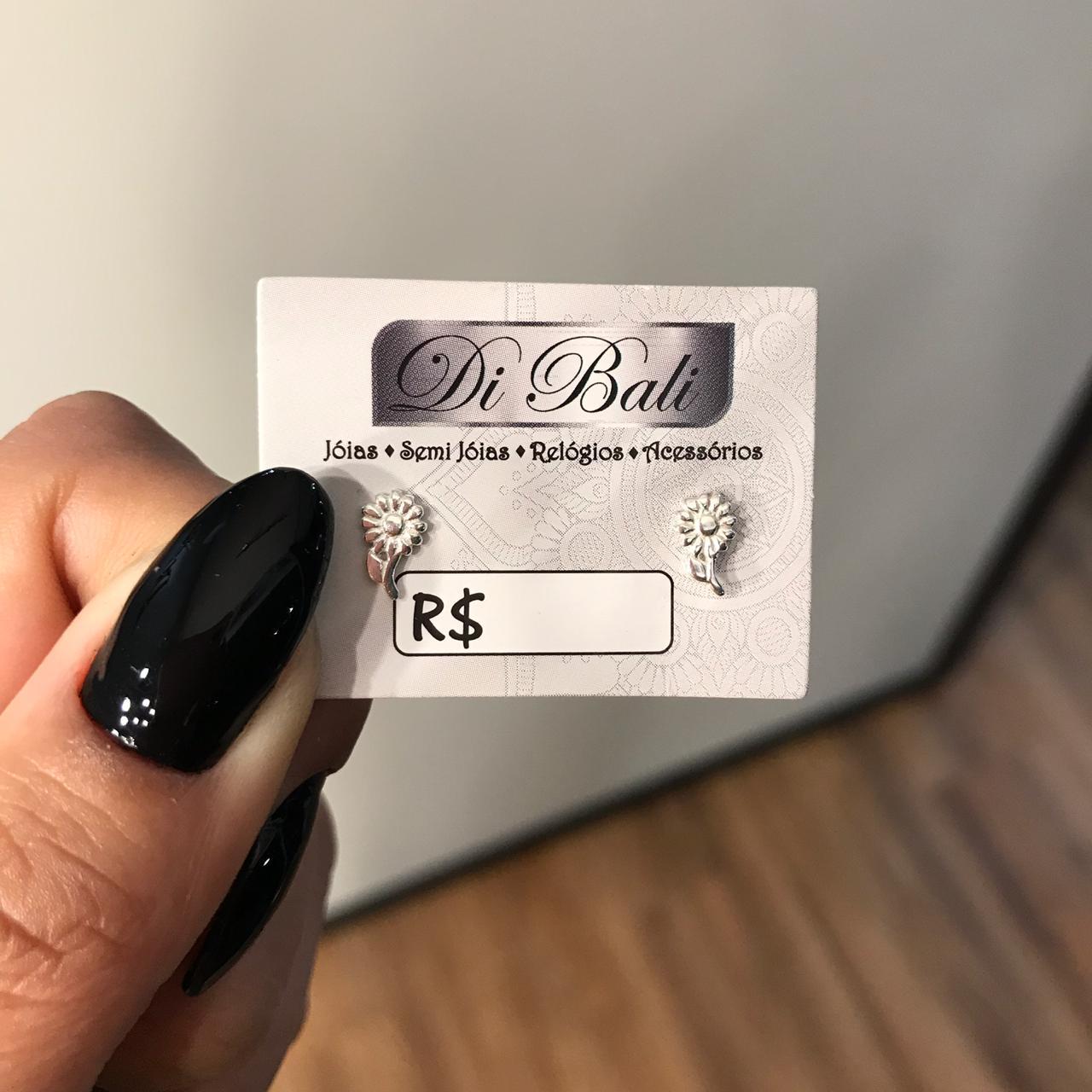 Brinco de Prata Girassol Pequeno