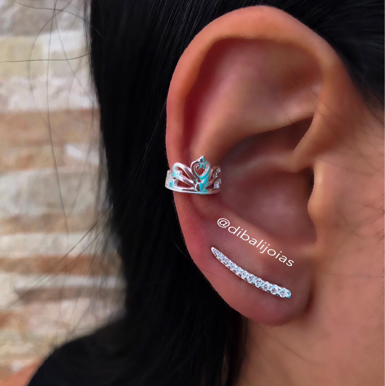 Brinco de Prata Ear Cuff Fino