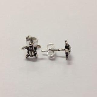 Brinco Tartaruga Pequena De Prata