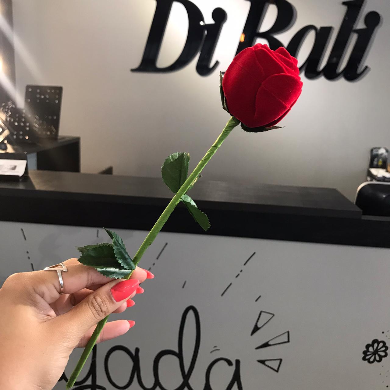Embalagem Rosa com Cabo