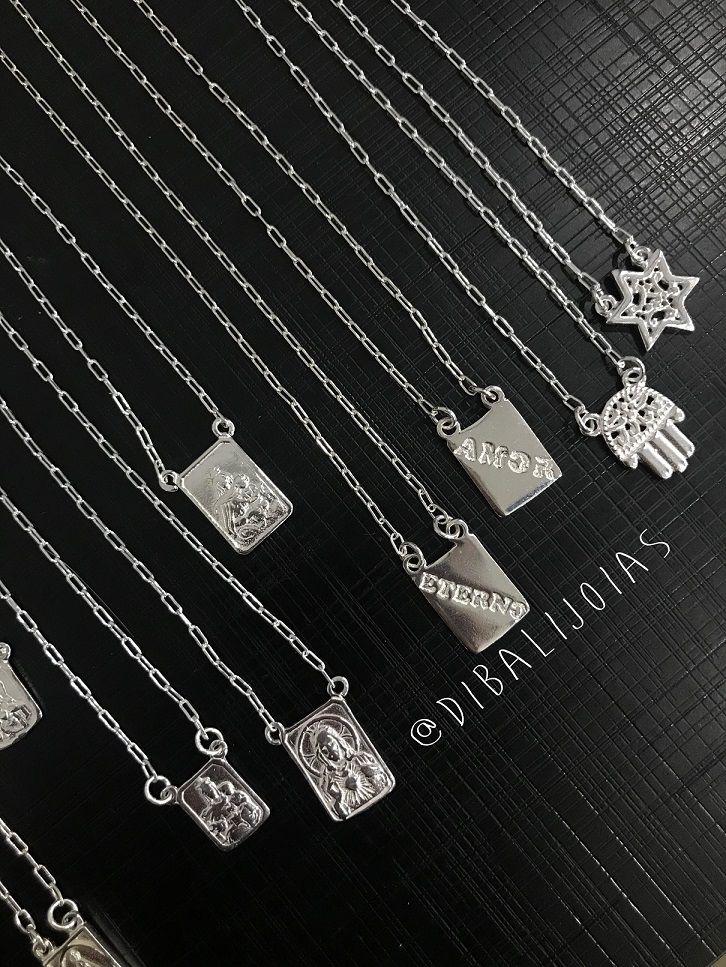 Escapulário de Prata Estrela de Davi e Mão Hamsá