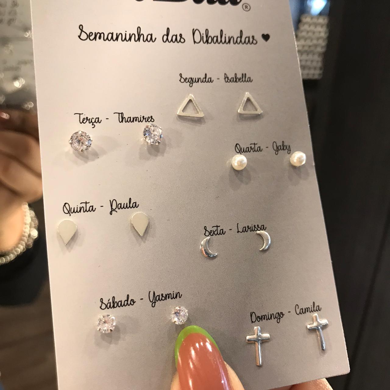 Kit Brincos de Prata Semaninha das Dibalindas 2