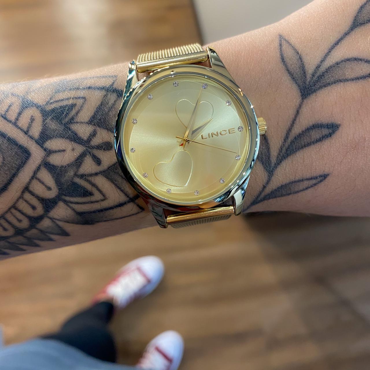 Kit Relógio Lince Dourado - LRGJ115L