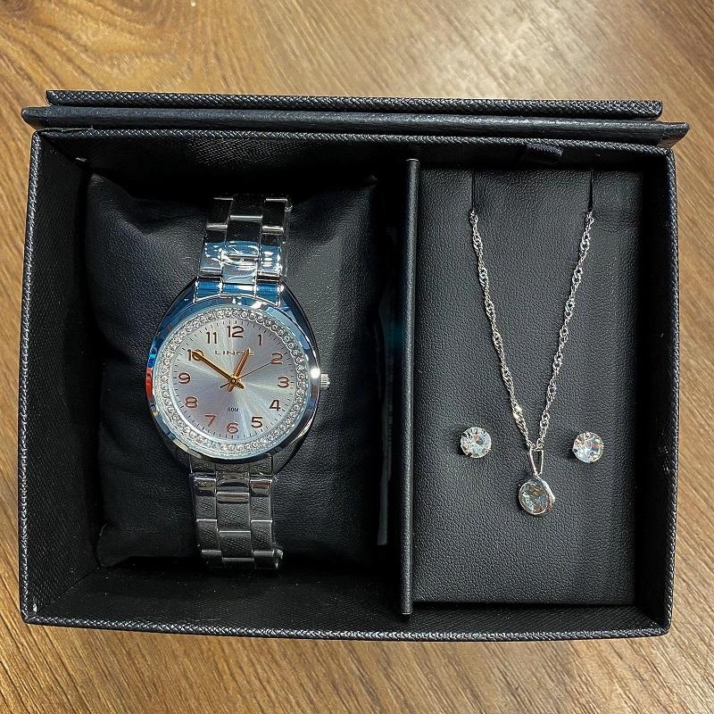Kit Relógio Lince Prata com Rosé - LRM4680L