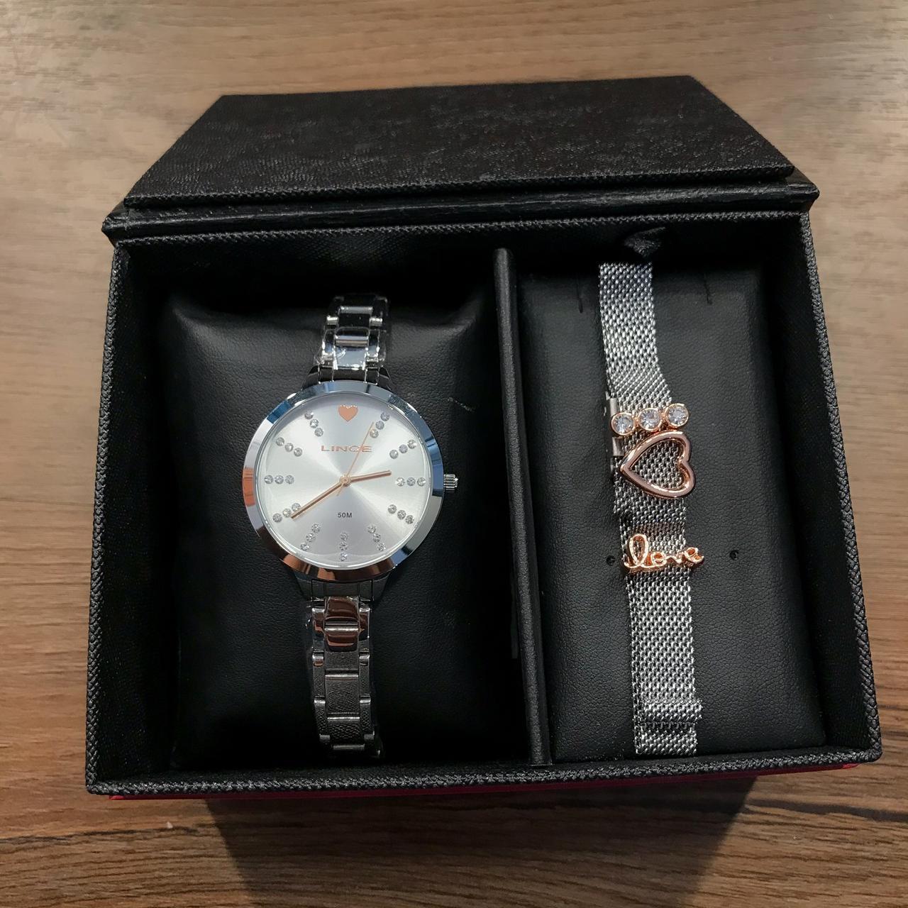 Kit Relógio Lince Prata - LRM4667L