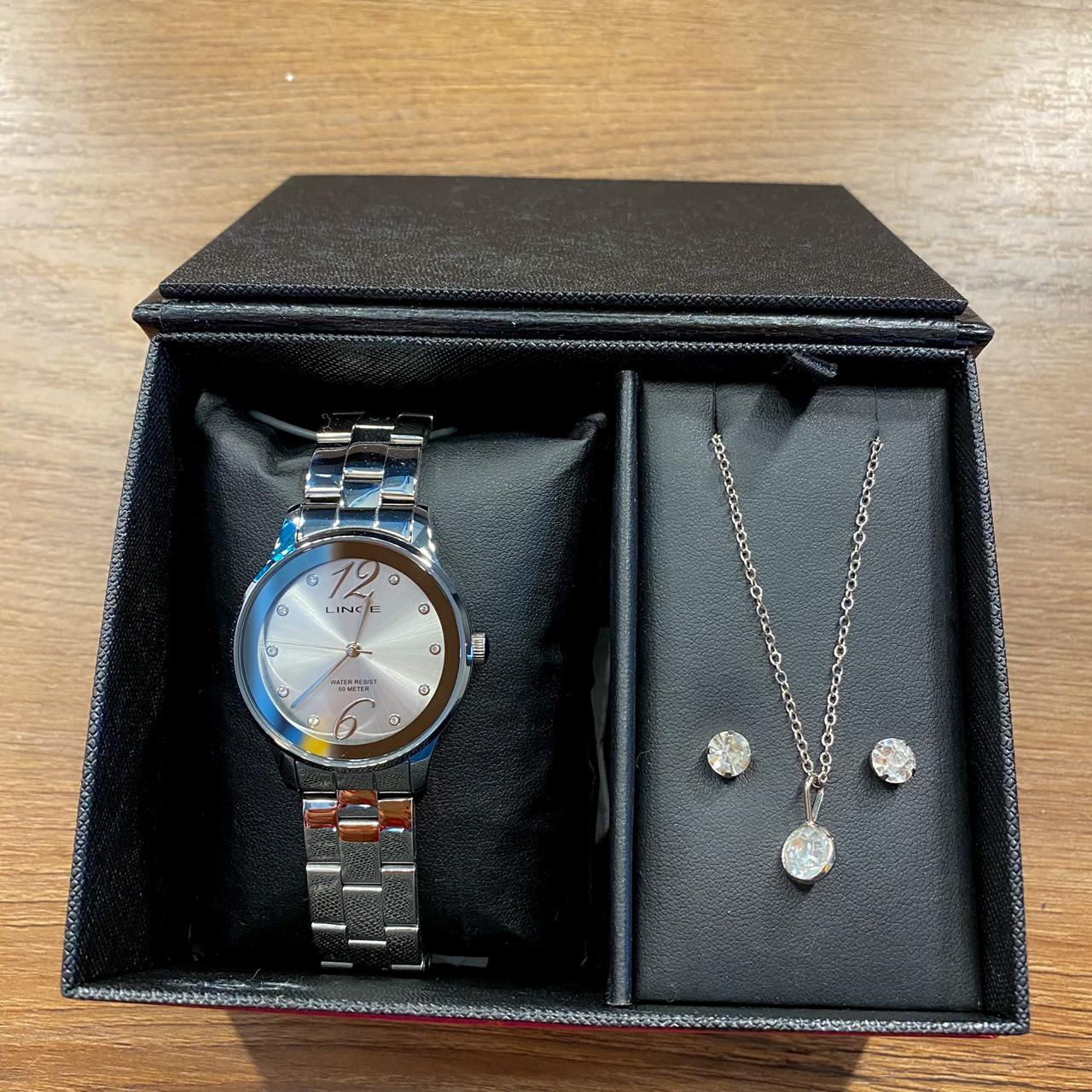 Kit Relógio Lince Prata - LRMH145L