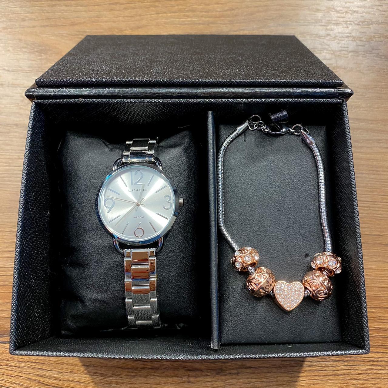 Kit Relógio Lince Prata - LRMH148L