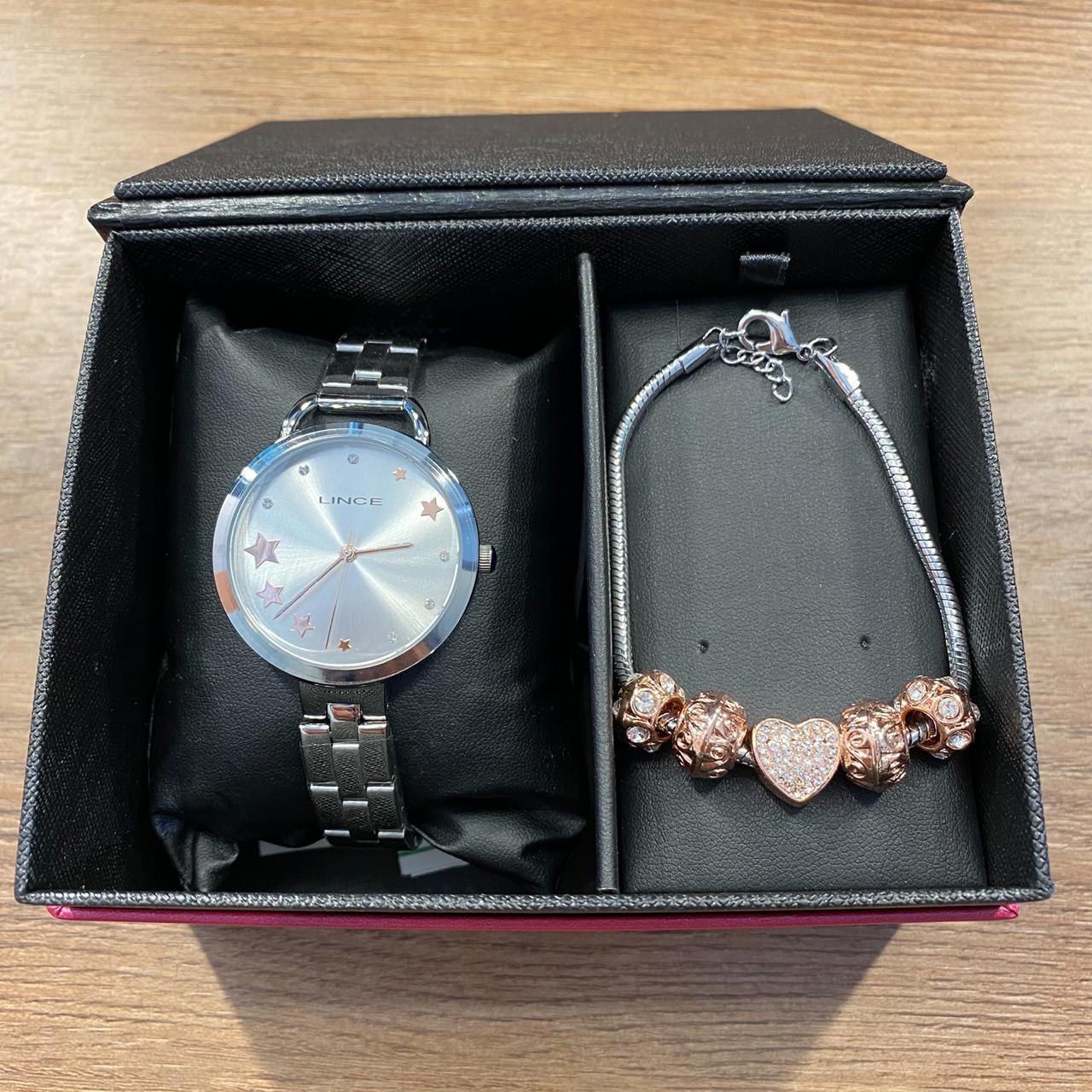Kit Relógio Lince Prata - LRMH152L