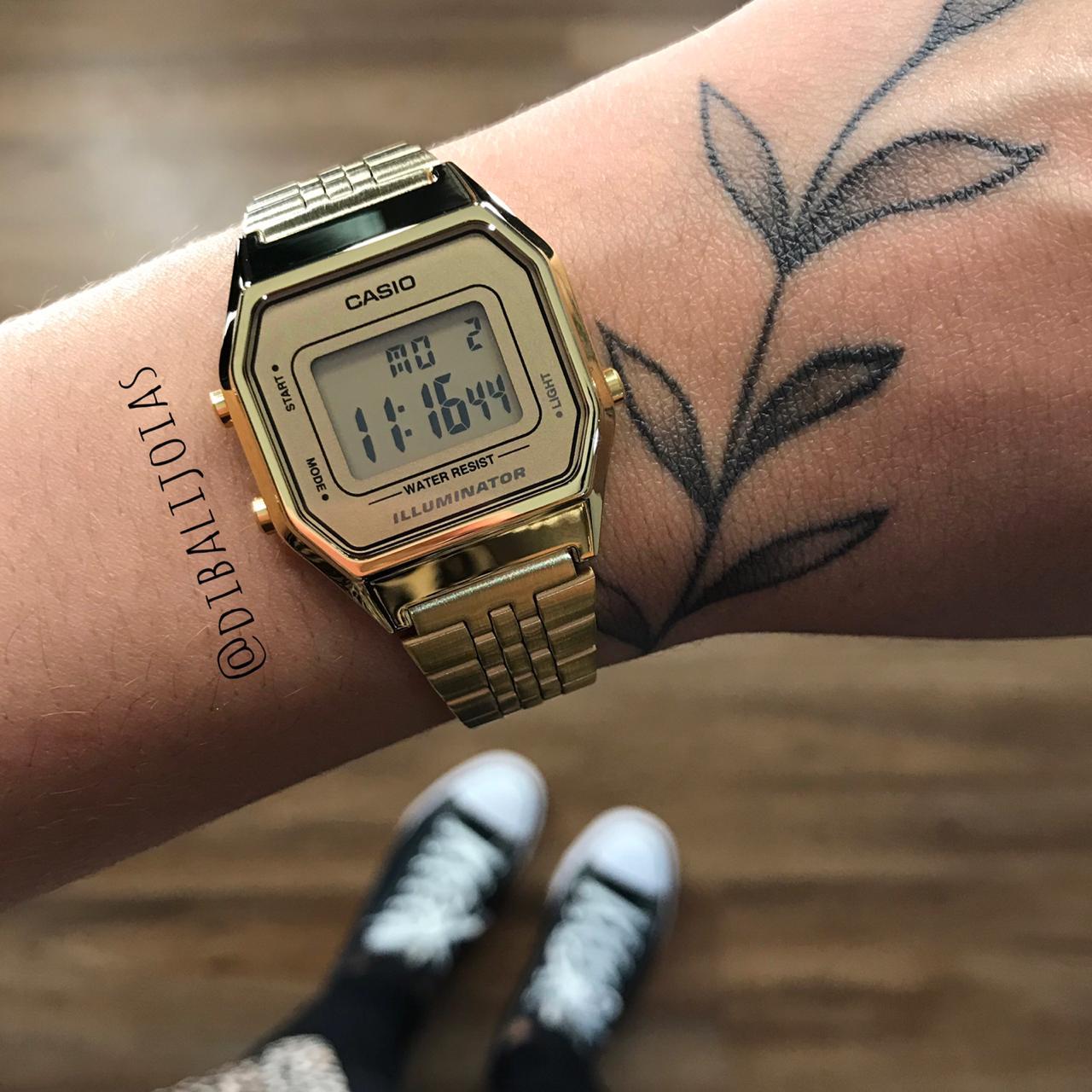 Relógio Casio Vintage Dourado - LA680WGA-9DF