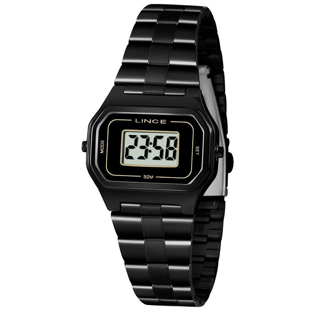 Relógio Lince Digital Preto - SDN4608L