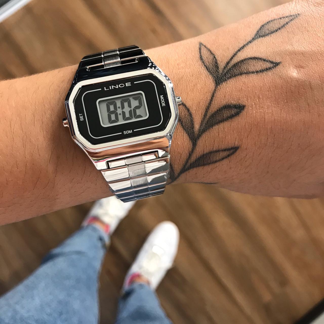 Relógio Lince Prata Digital -  SDM4608L