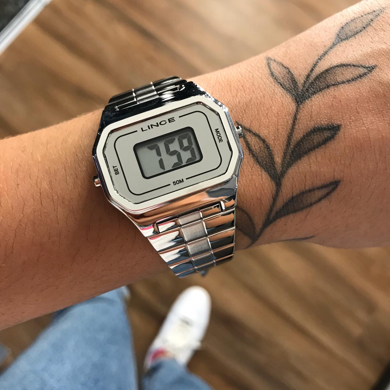 Relógio Lince Prata Digital -  SDM4609L