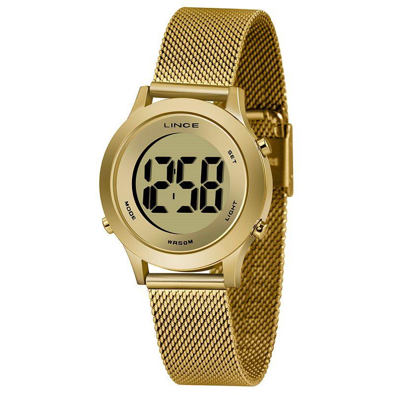 Relógio Lince Dourado Digital  - SDPH109L