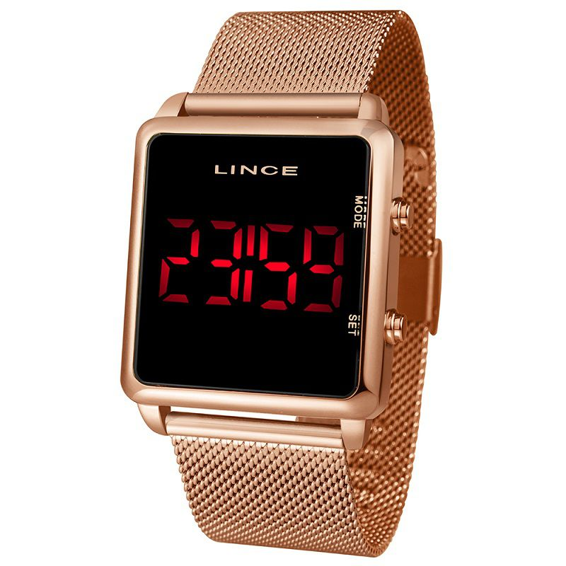 Relógio Lince Rose Gold Led -  MDR4596L