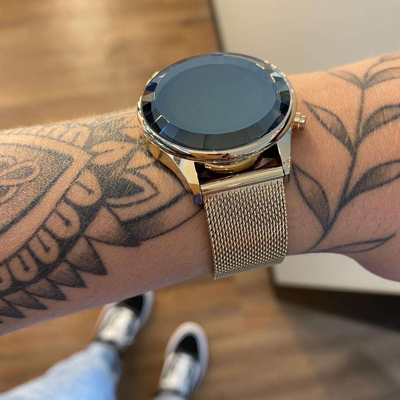 Relógio Lince Dourado Led - LDG4648L