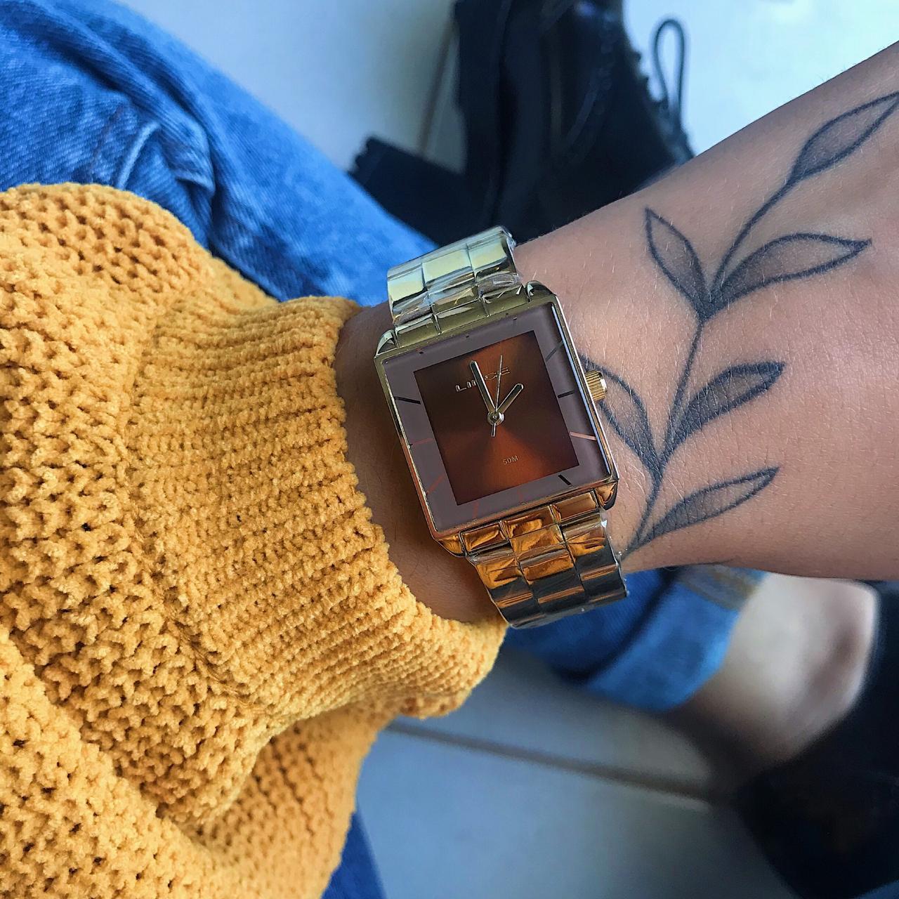 Relógio Lince Dourado - LQG4583L