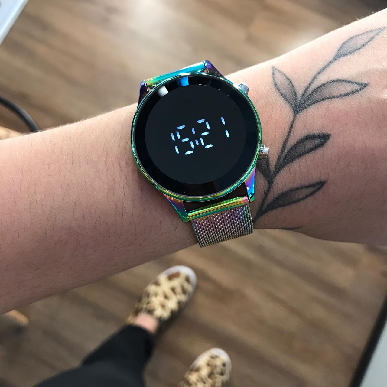 Relógio Lince Multicolor Led - LDM4649L