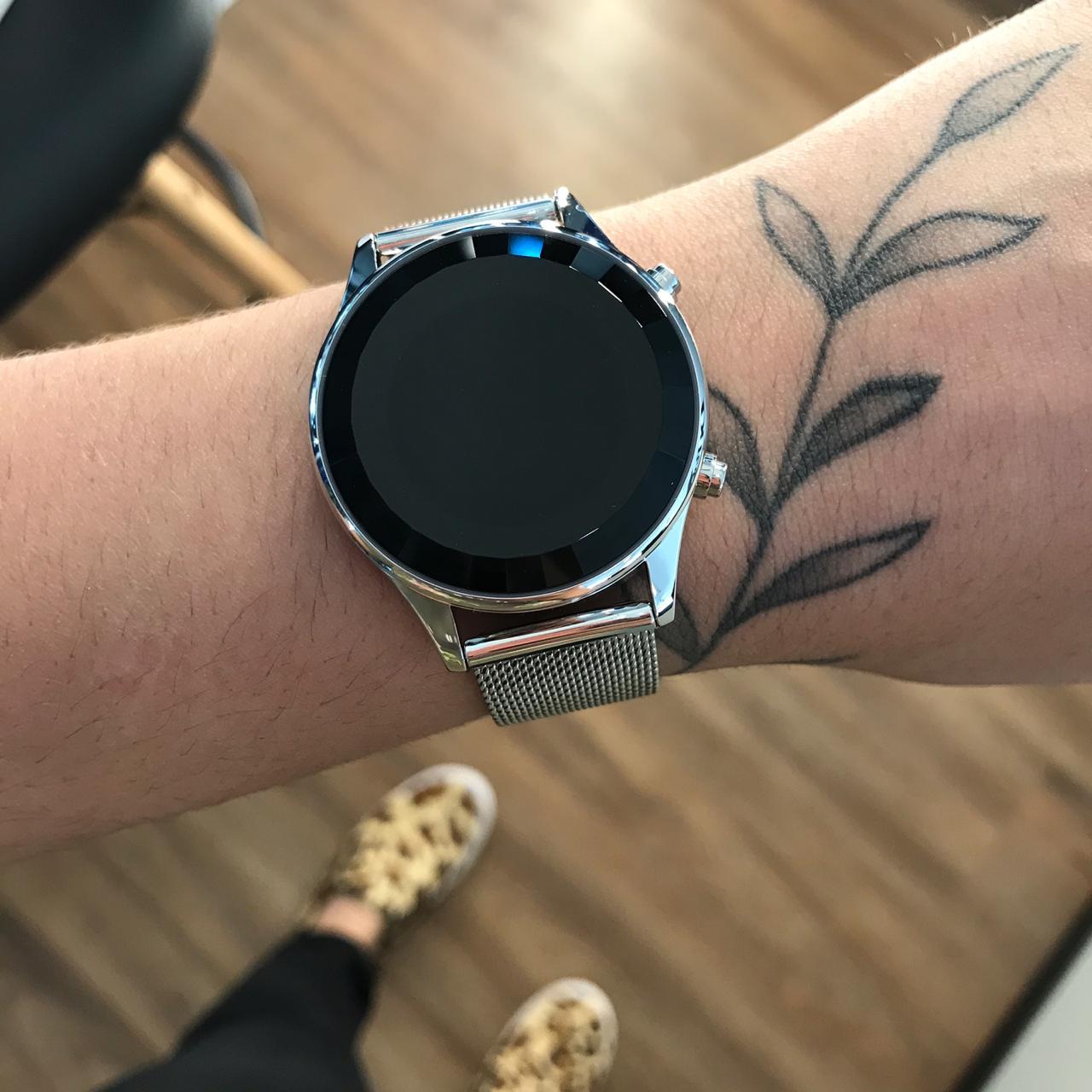Relógio Lince Prata Led - LDM4647L