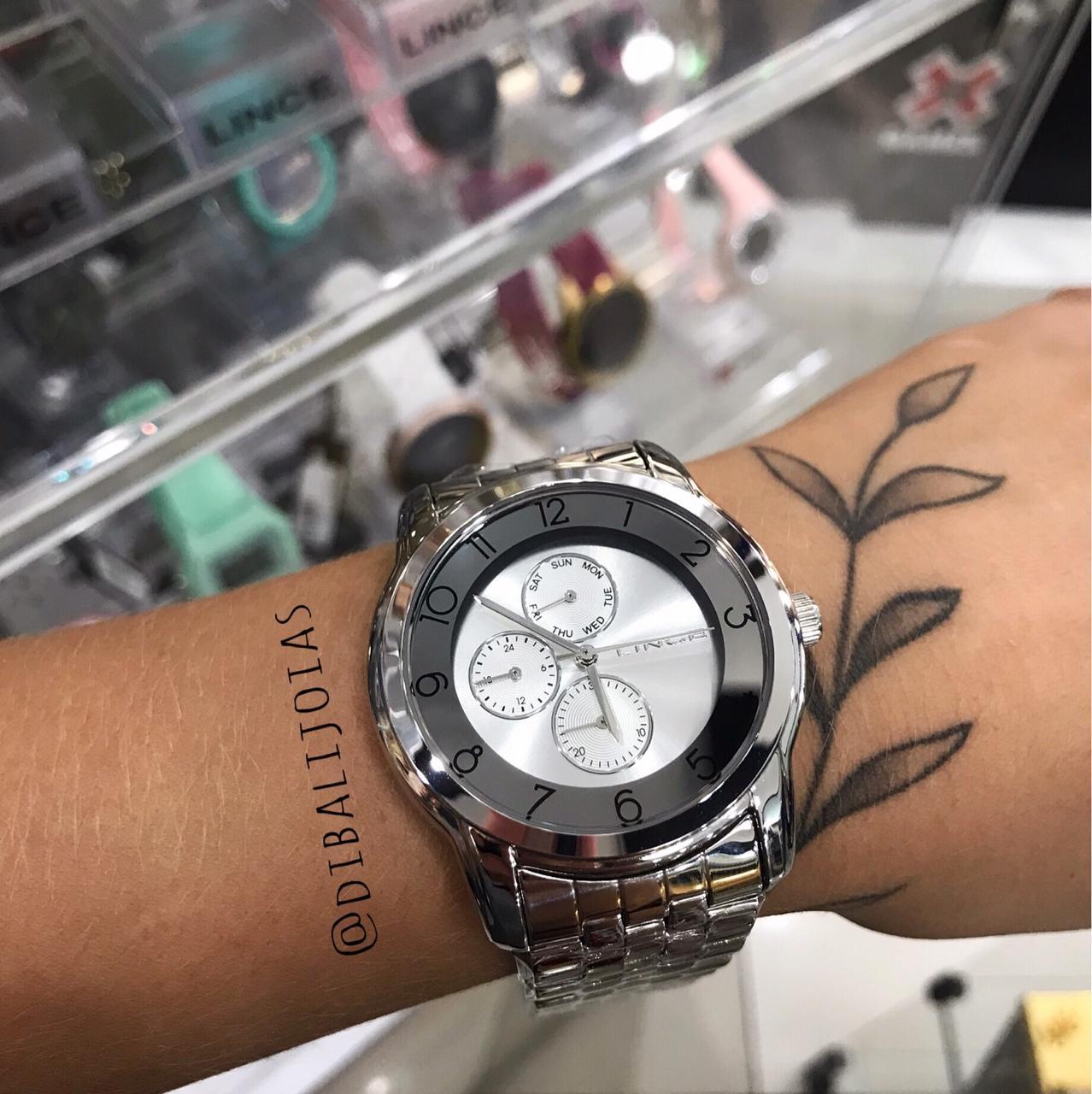 Relógio Lince Prata LMM4589L