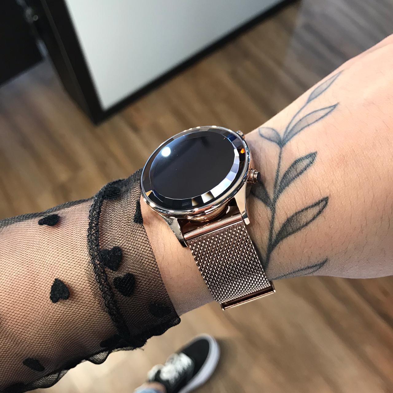 Relógio Lince Rose Gold Led - LDR4648L