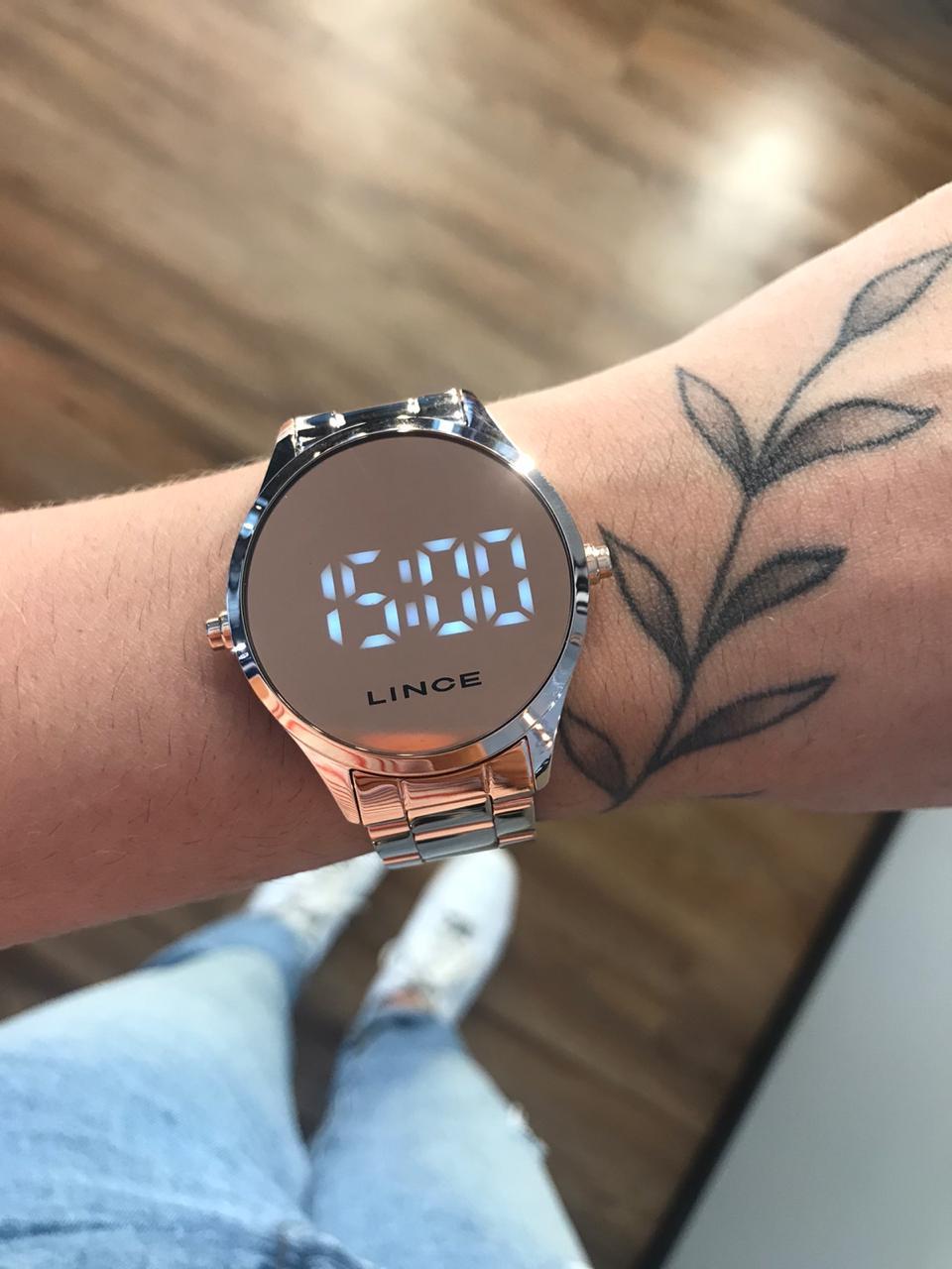 Relógio Lince Rose Gold Led- MDR4617L