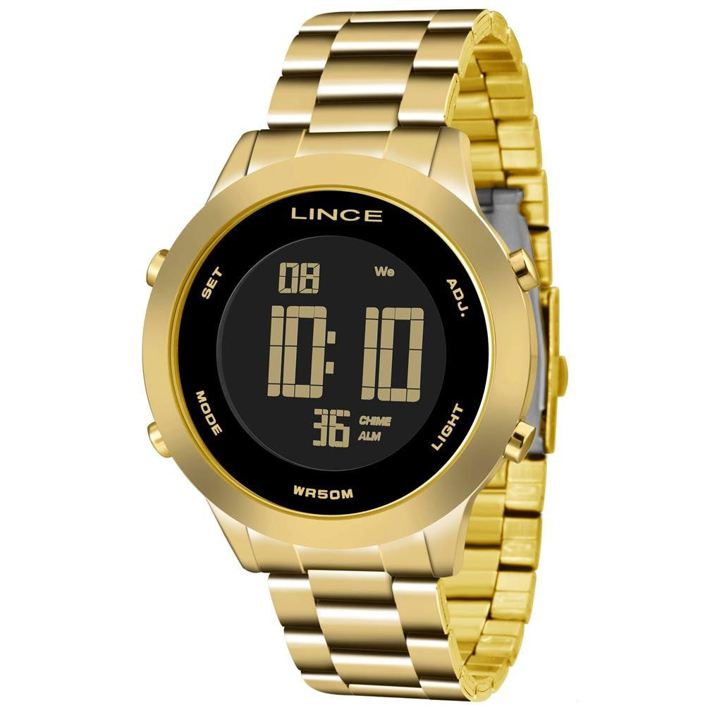 Relógio Lince Vintage Dourado com Preto - SDPH038L