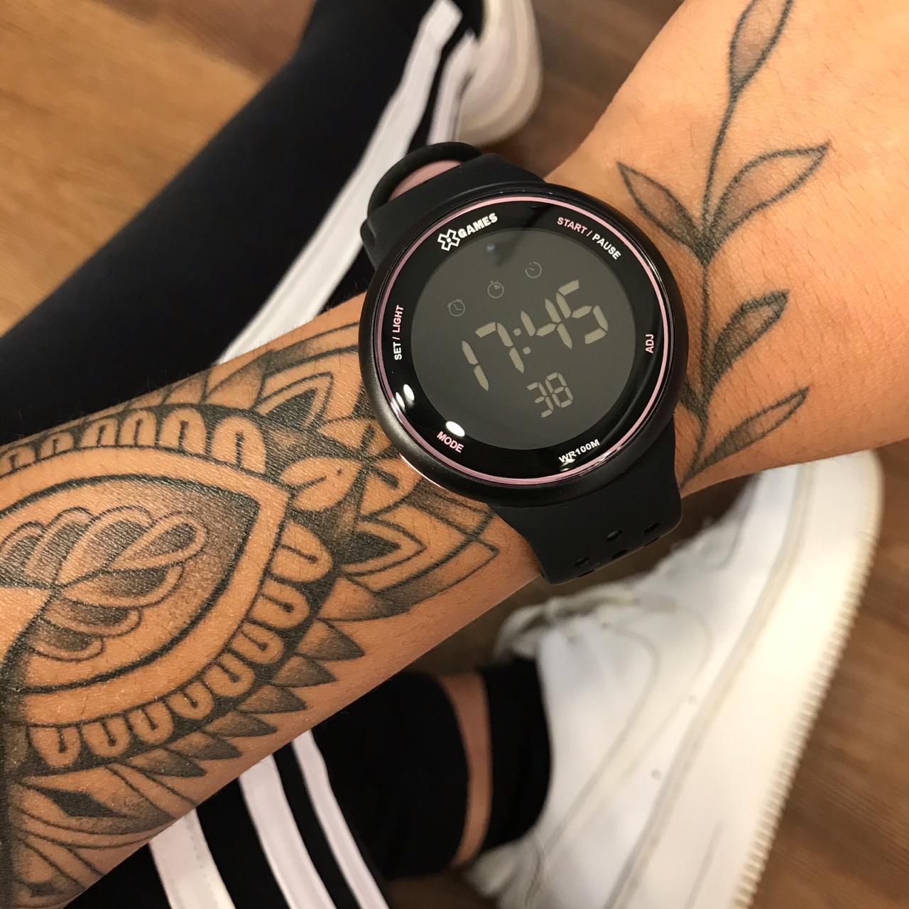 Relógio X Games Preto com Rosa - XFPPD096