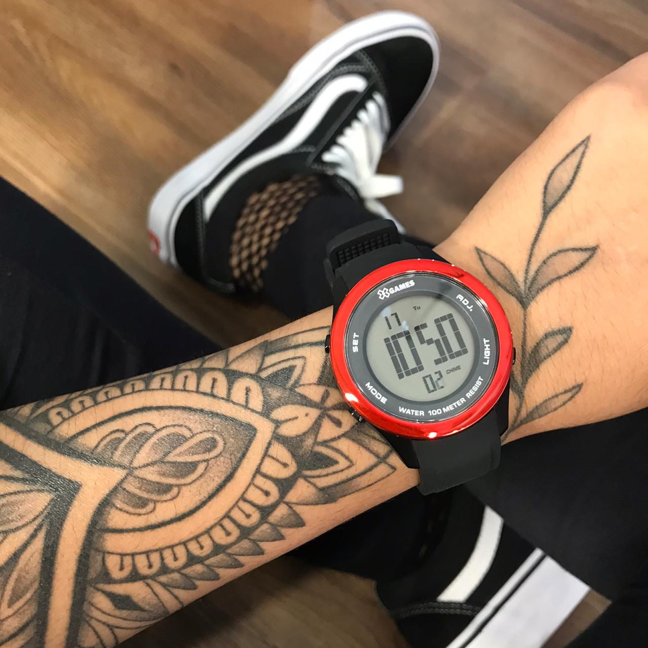 Relógio X Games Preto com Vermelho- XMPPD388