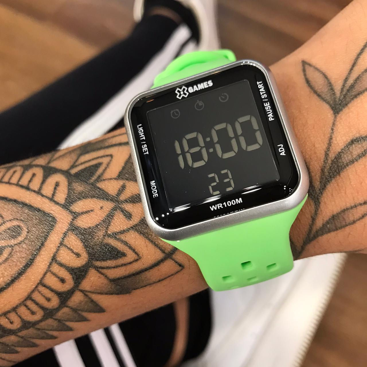 Relógio X Games Verde com Cinza – XGPPD124