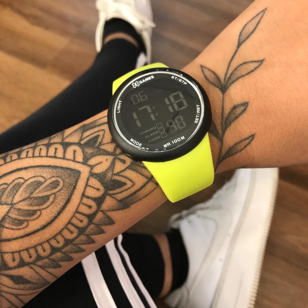 Relógio X Games Verde Limão com Preto - XMPPD613