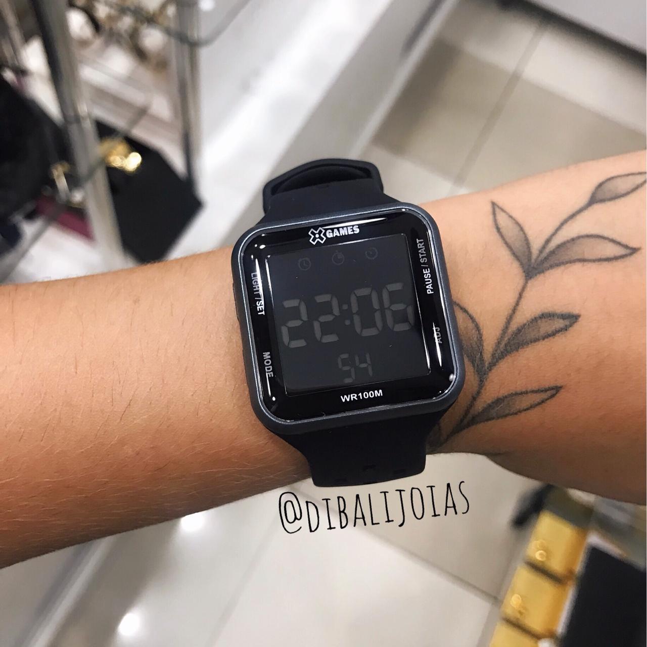 Relógio X Games Preto com Detalhe Cinza – XGPPD091