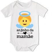 BODY BEBÊ DIVERTIDO ANJINHO DA MAMÃE