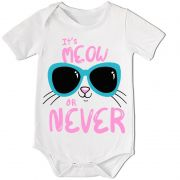 BODY BEBÊ DIVERTIDO IT´S MEOW OR NEVER