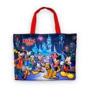 Bolsinha De Nylon Castelo Da Disney Personalizada