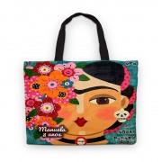 Bolsinha De Nylon Frida Kahlo Personalizada