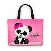 Bolsinha De Nylon Panda Rosa Personalizada