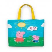 Bolsinha De Nylon Peppa Pig Personalizada