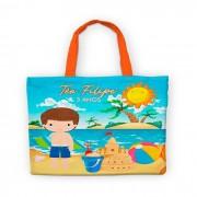 Bolsinha De Nylon Praia E Sol Personalizada