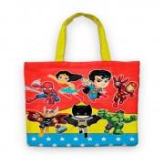 Bolsinha De Nylon Super Heróis Kids Personalizada